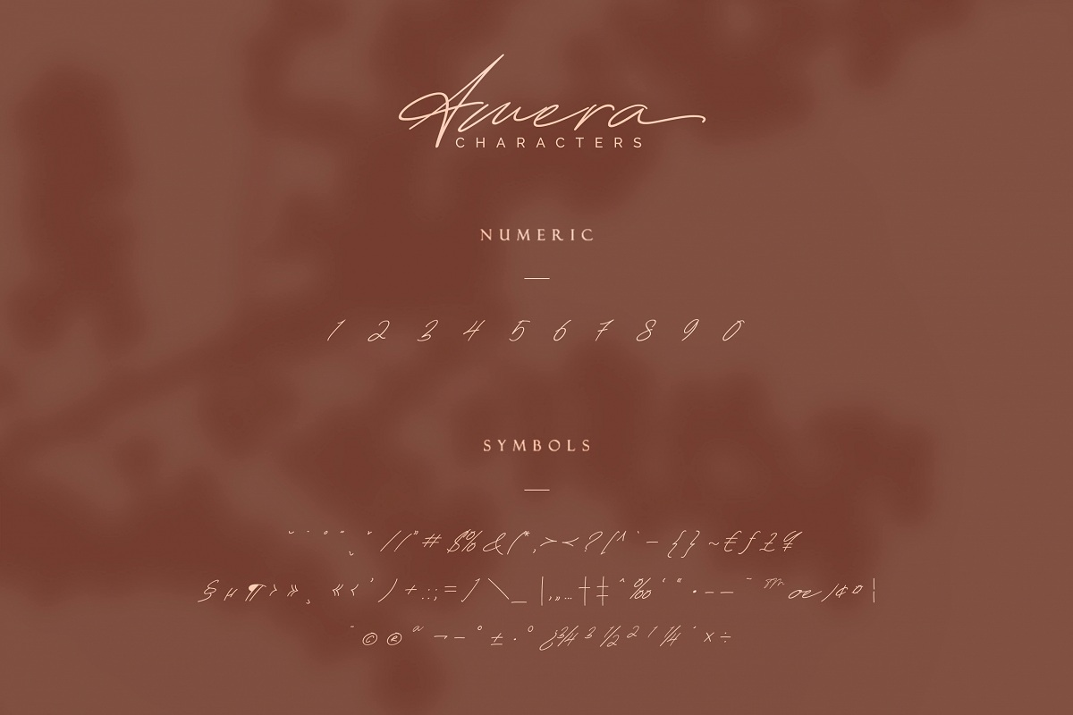 Amera Signature Handwritten Font-3