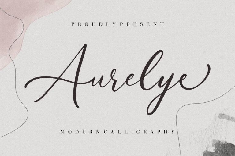Aurelye Modern Calligraphy Font -1