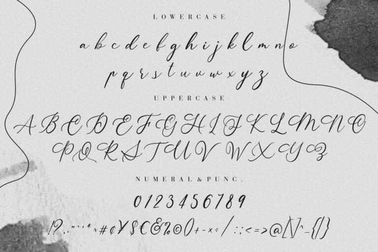 Aurelye Modern Calligraphy Font -3