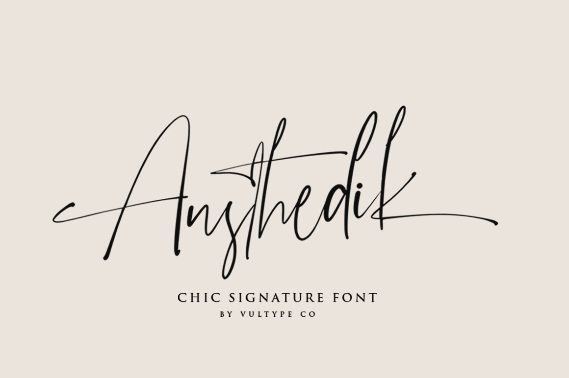 Austhedik Modern Signature Font -1