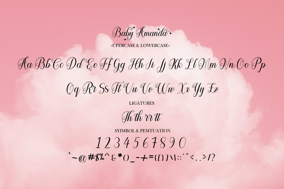 Baby Amanda Modern Calligraphy Font -3