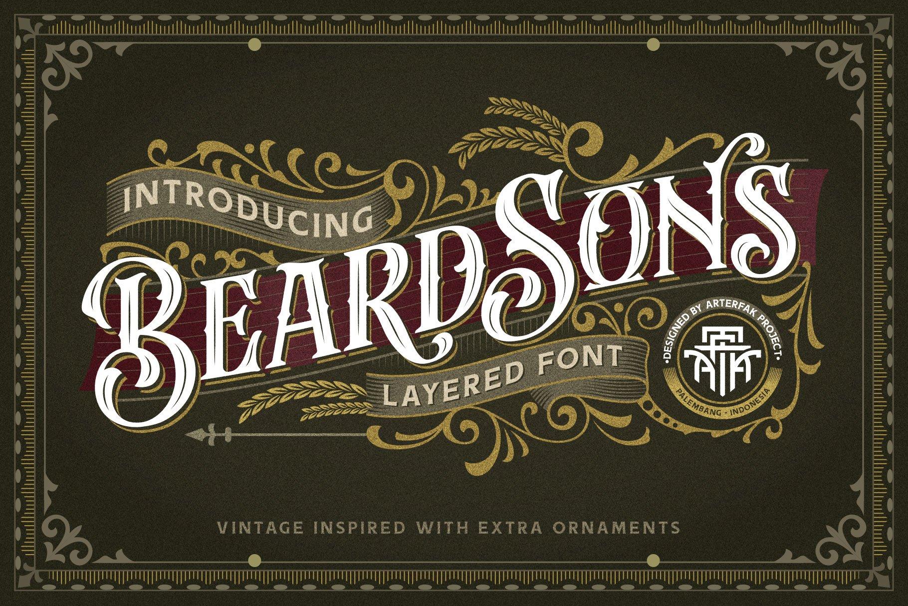 Beardsons Layered Font -1
