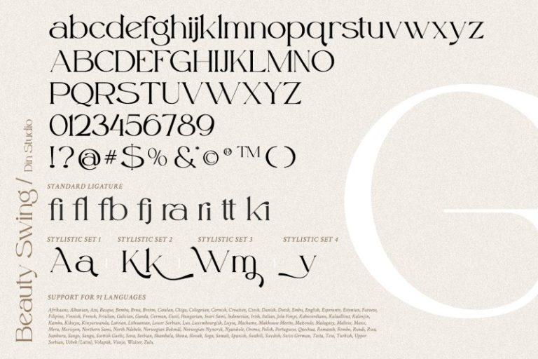 Beauty Swing Modern Serif Font -3