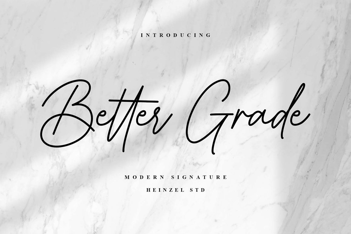 Better Grade Handwritten Font -1