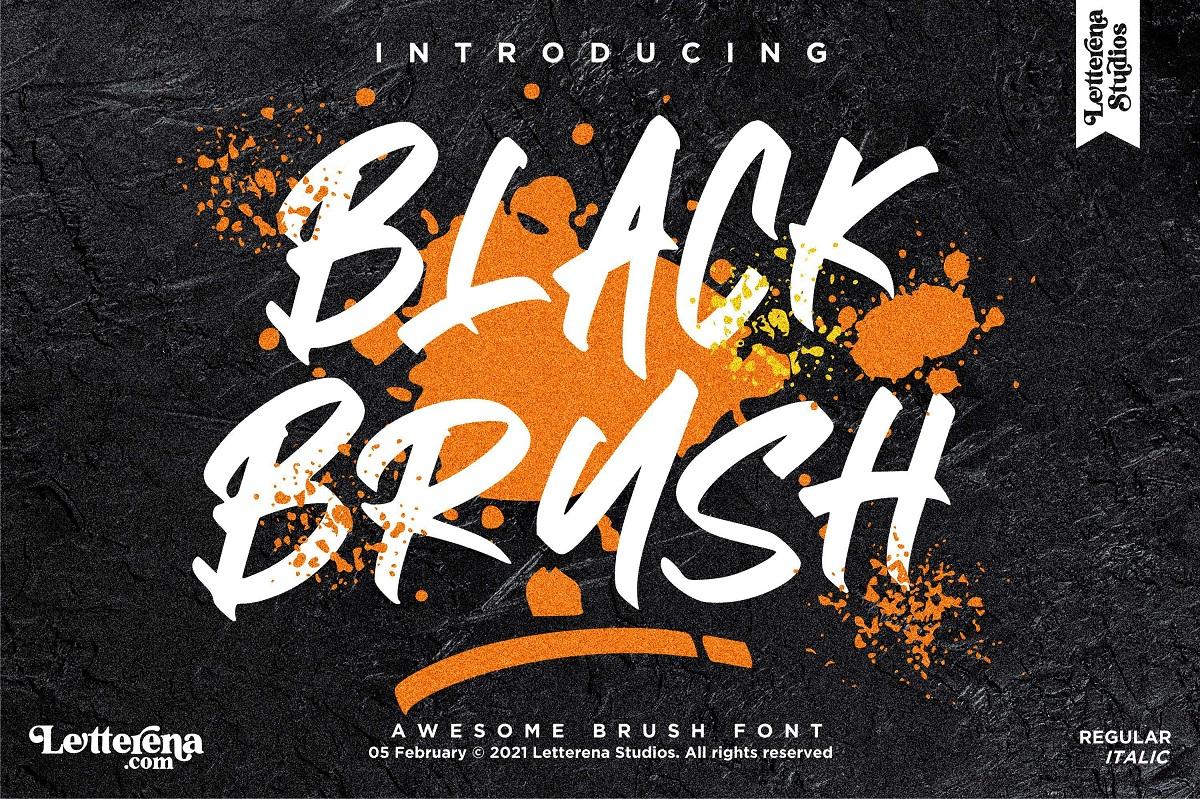 Black Brush Display Font-1