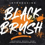 Black Brush Font
