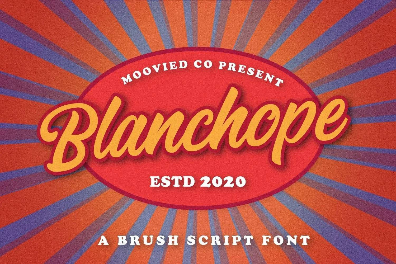 Blanchope Script Brush Font -1