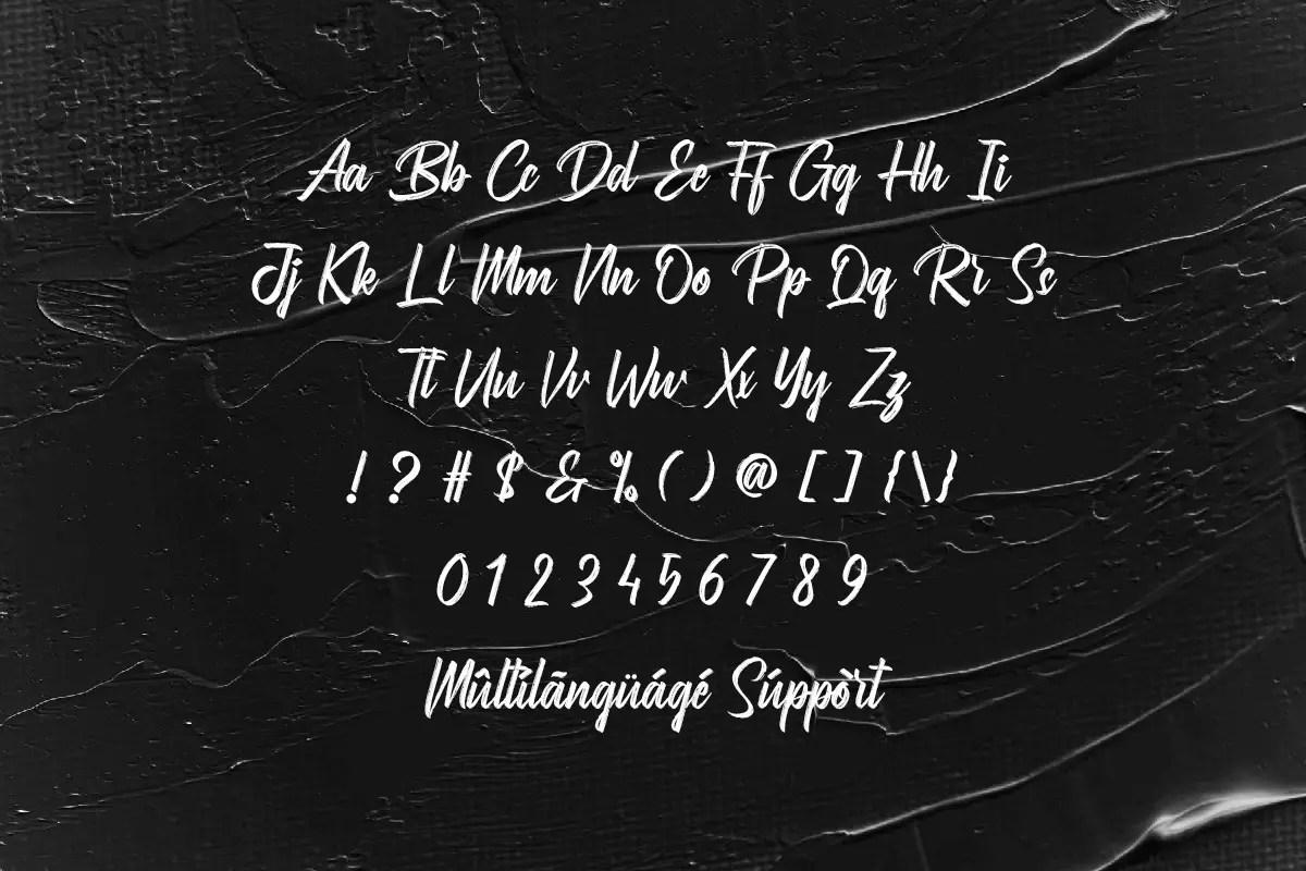 Bromarkers Brush Script Font -3