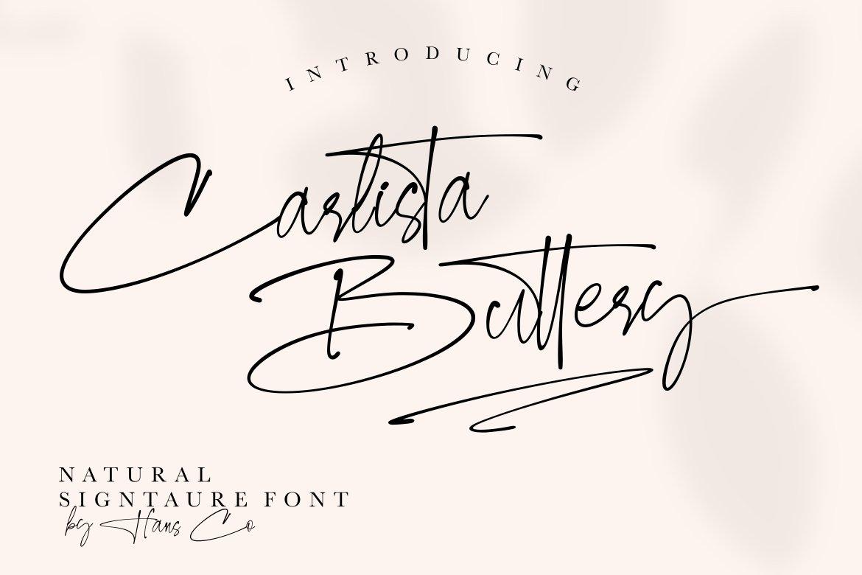 Carlista Buttery Script Handwritten Font -1