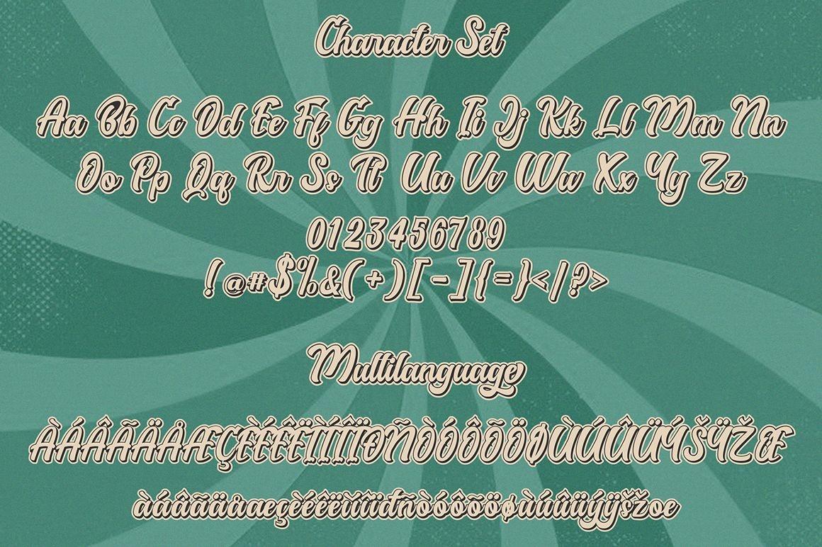 DegdeganBold Script Font -3