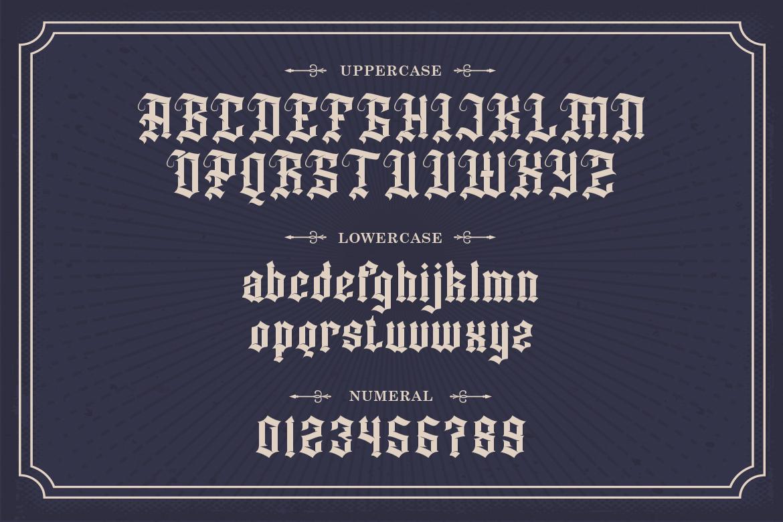 Dutch Brigade Blackletter Font -3