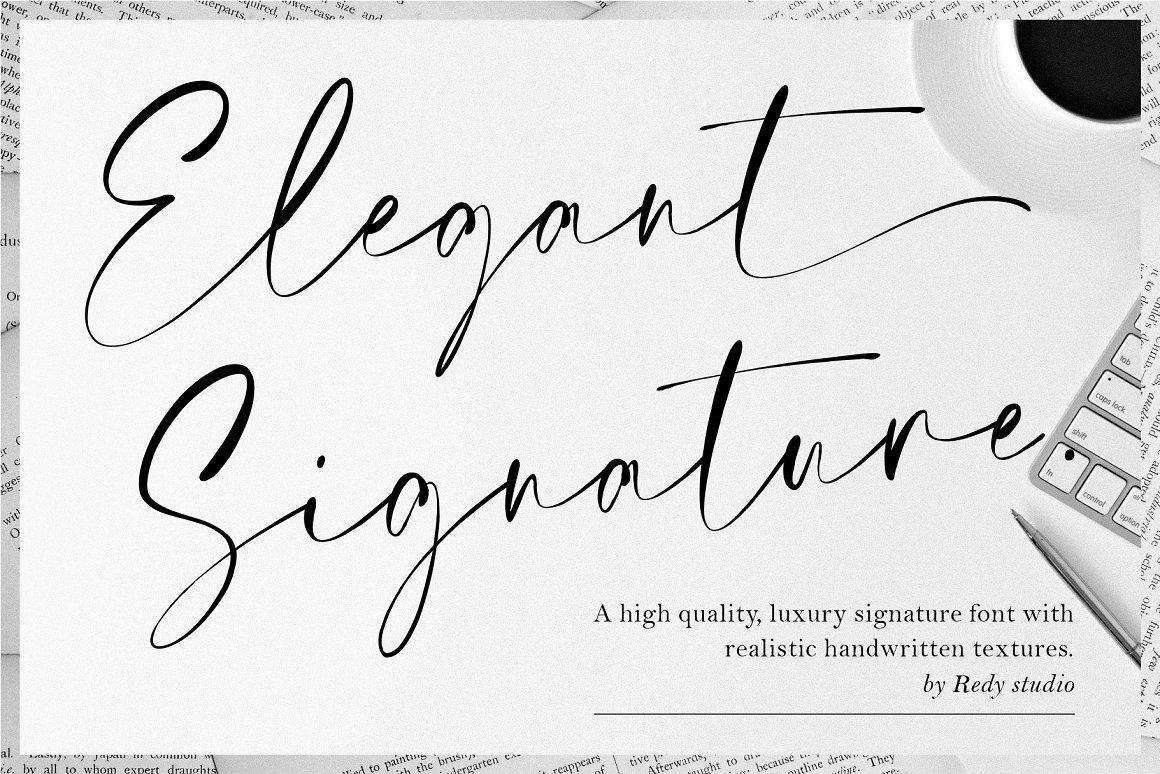 Elegant Signature Script Handwritten -1