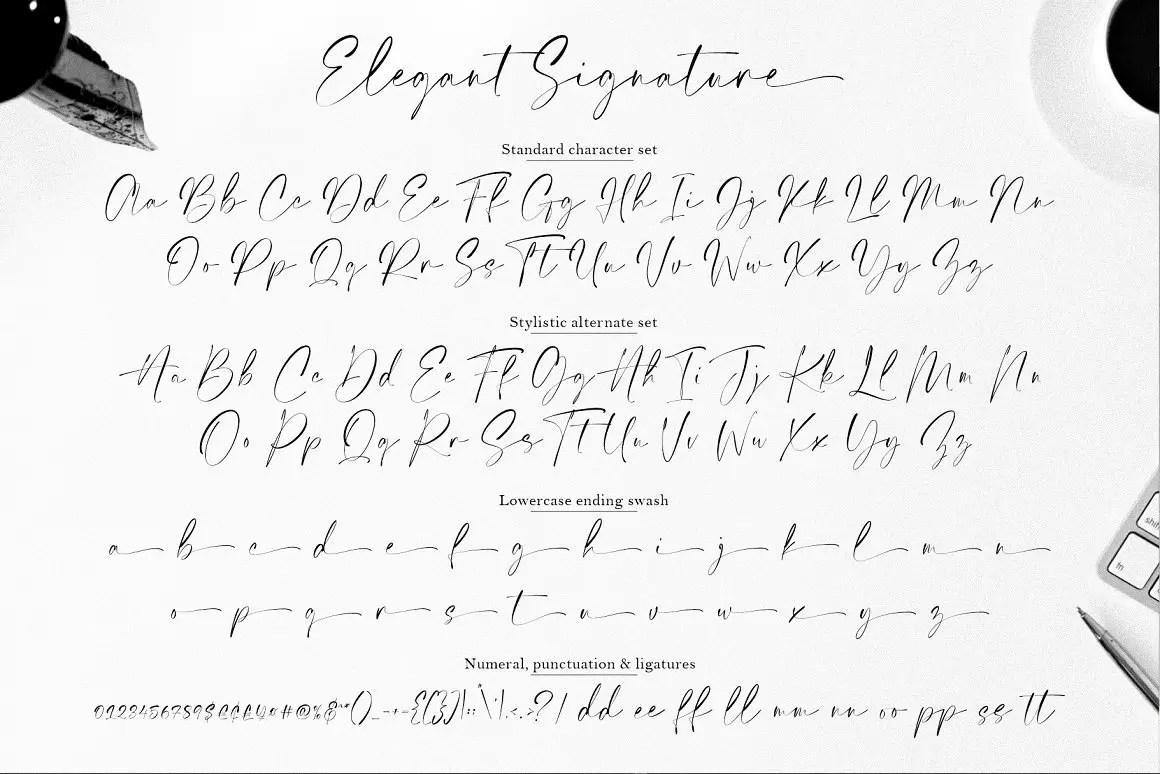 Elegant Signature Script Handwritten -3