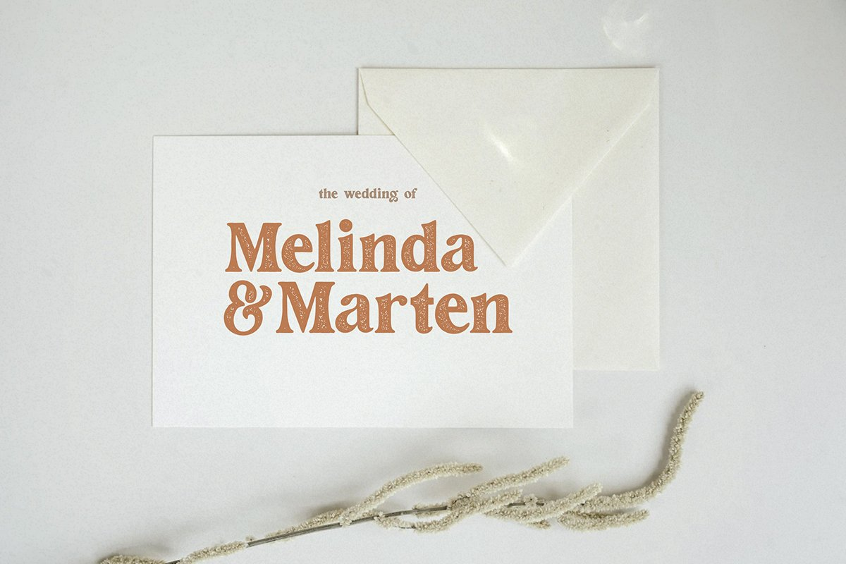 Fashion Modish Vintage Letterpress Font -2