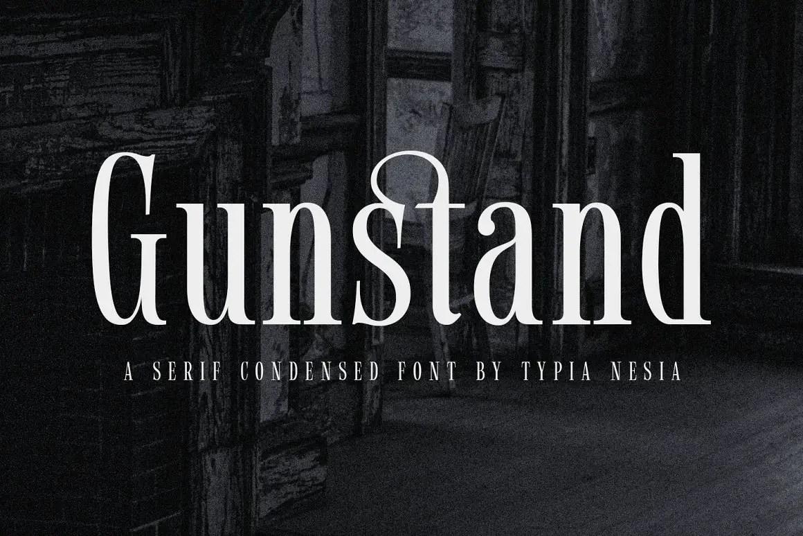 Gunstand Condensed Serif Font -1