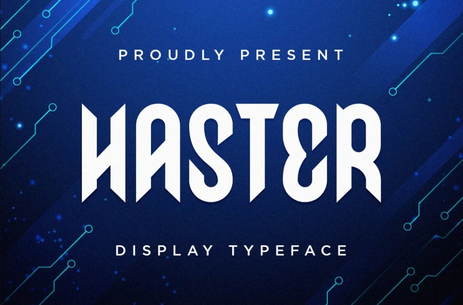 Haster Display Font -1