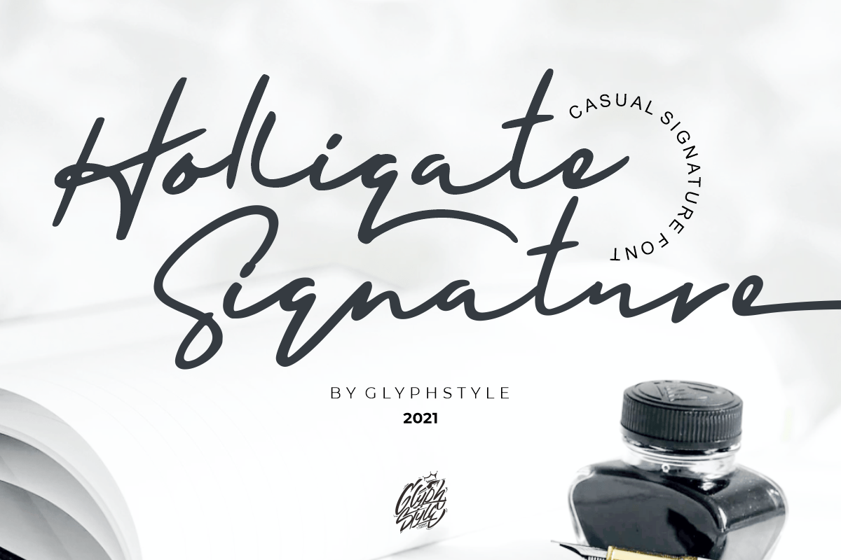 Holligate Signature Handwritten Font -1