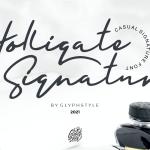 Holligate Signature Font