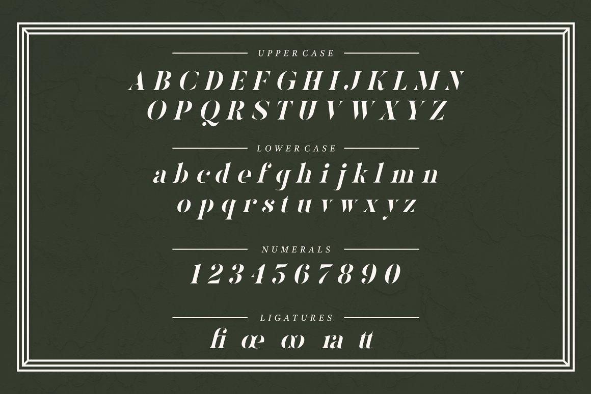 Kinlock Elegant Stencil Serif Font -3