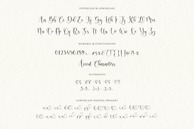 Magnolin Beautiful Calligraphy Font -3