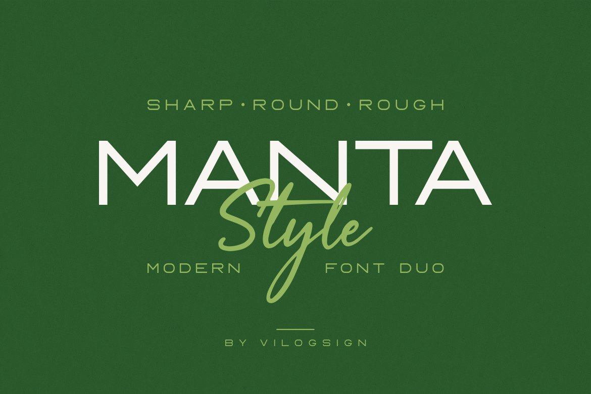 Manta Style Modern Font Duo -1