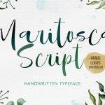 Maritosca Script Typeface
