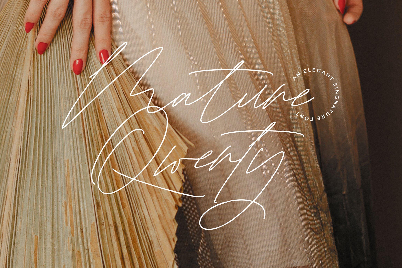 Mature Qwerty Signature Font -1
