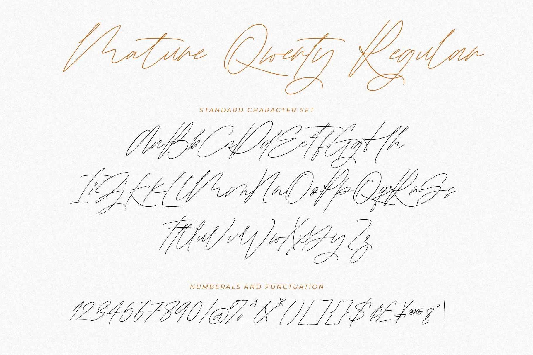 Mature Qwerty Signature Font -3