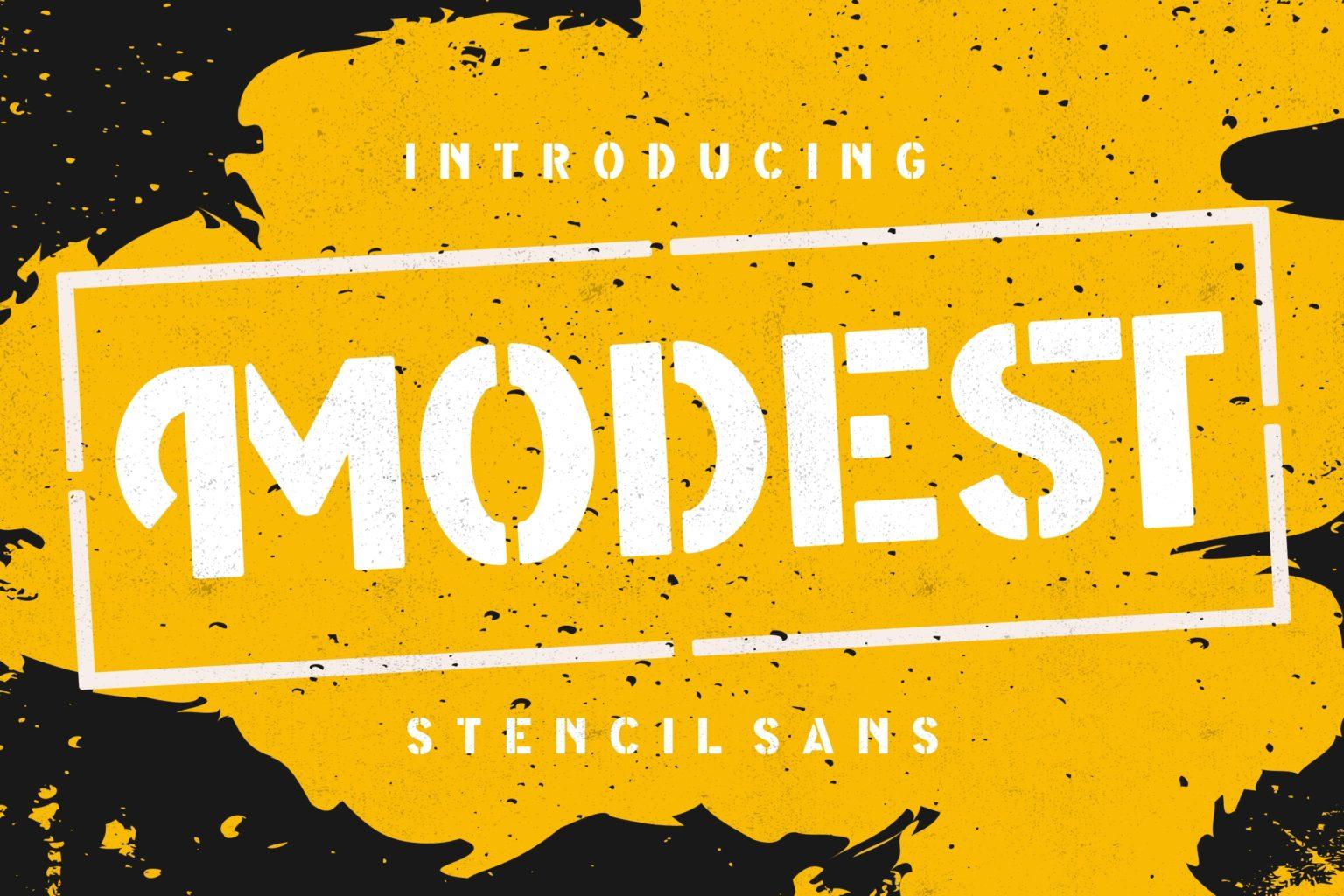 Modest Stencil Sans Font -1