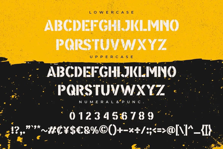 Modest Stencil Sans Font -3