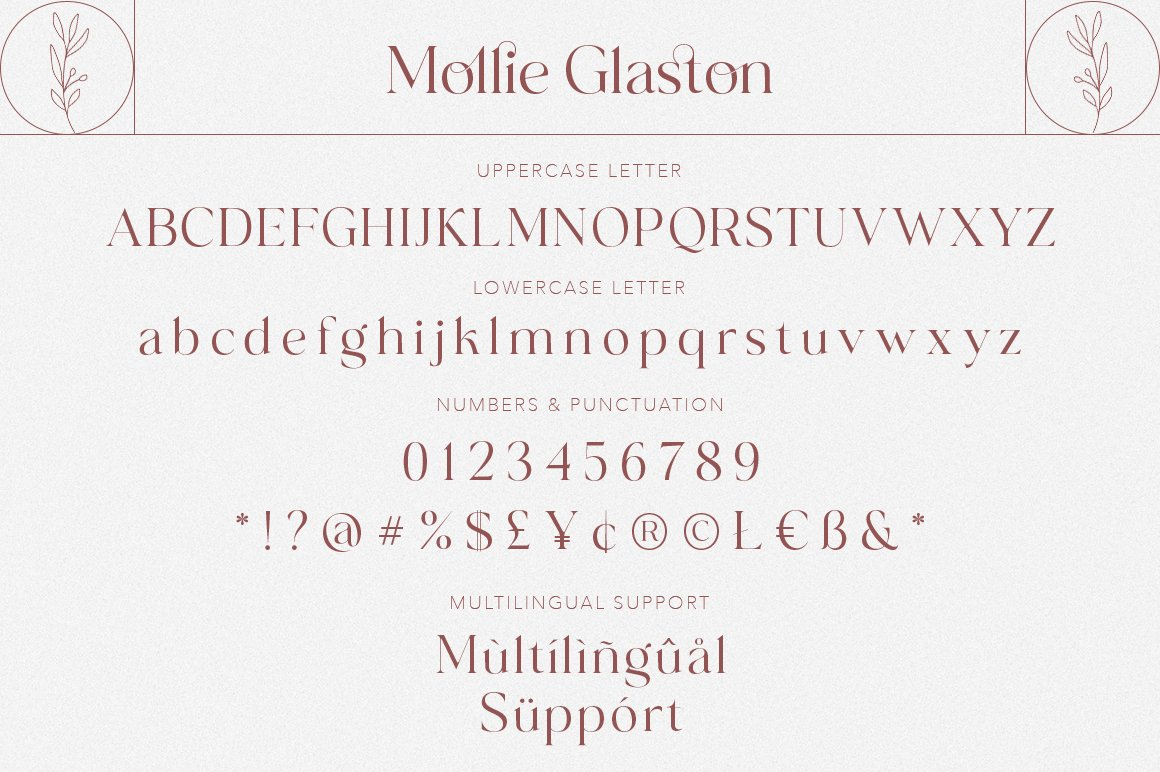 Mollie Glaston Modern Serif Font -3