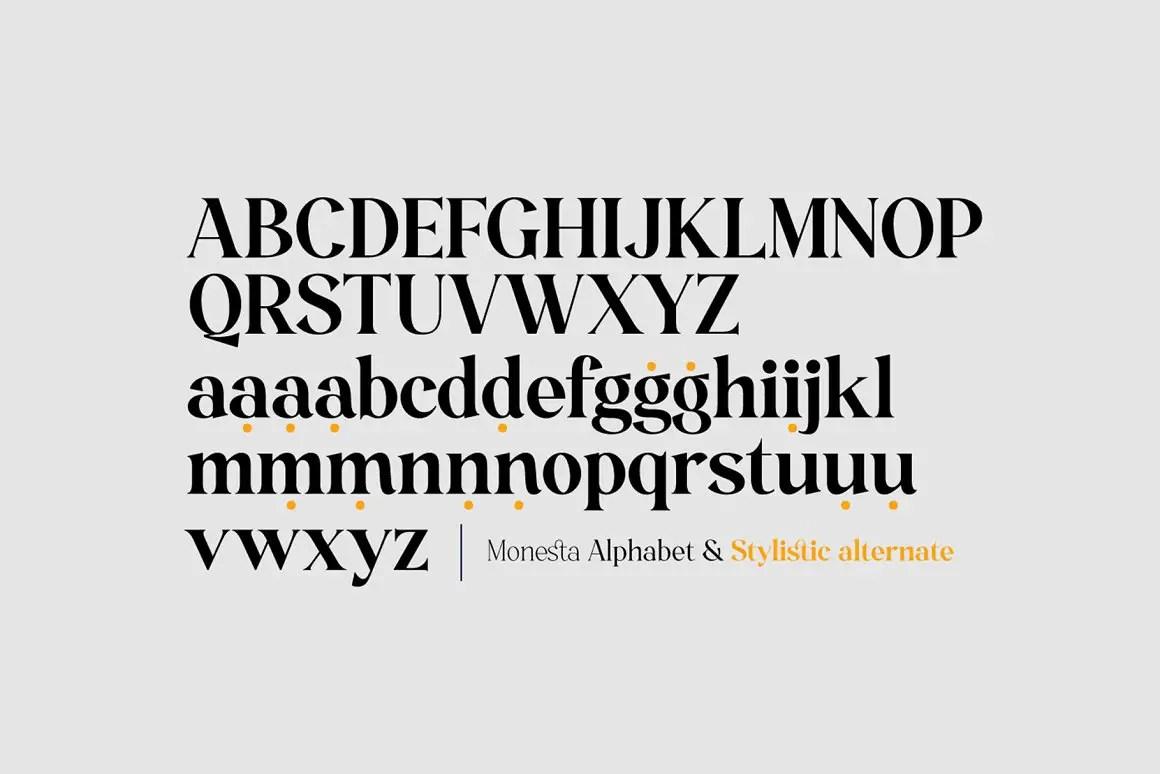 Monesta Serif Font -2