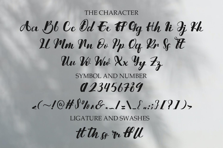 Nattijah Calligraphy Script Font -3