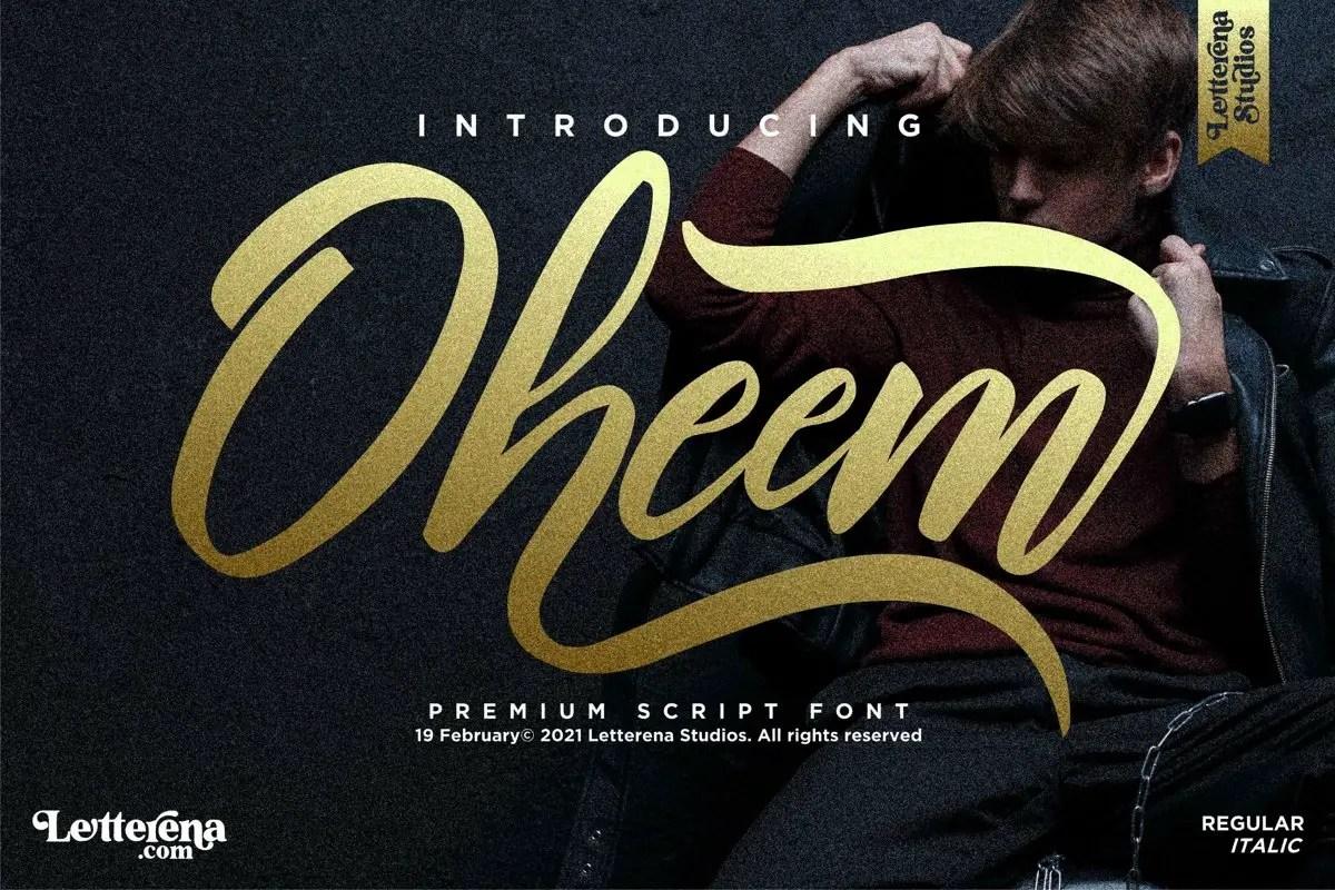 Oheem Premium Script Font -1