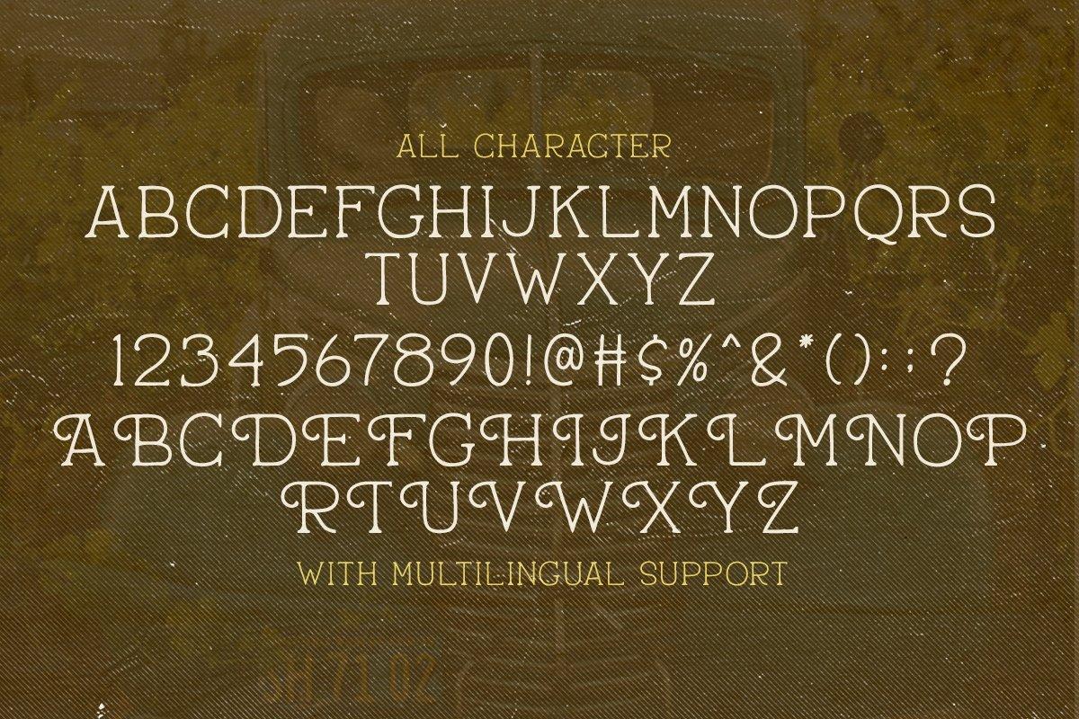 Pantaleone Vintage Typeface -3