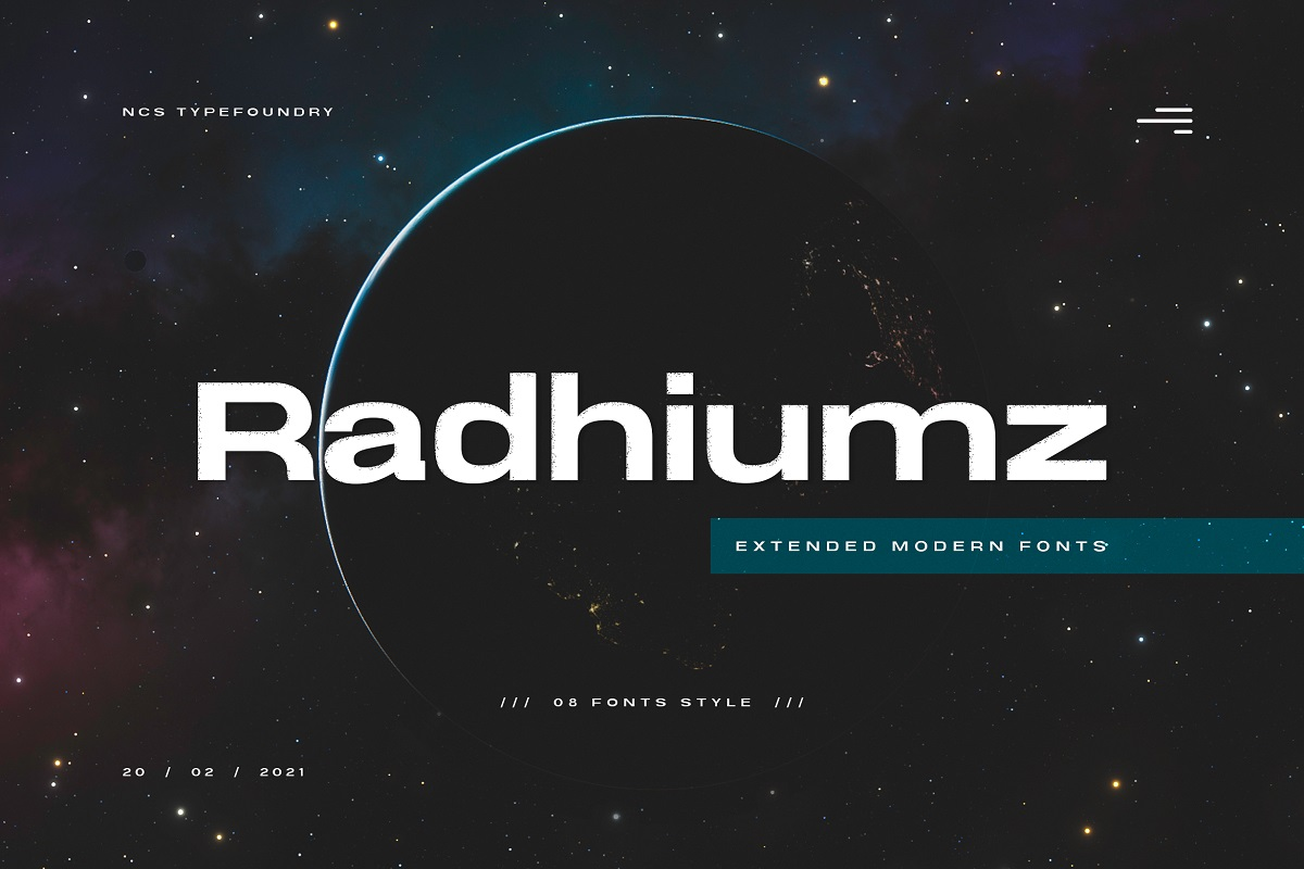 Radhiumz Extended Sans Serif Font -1