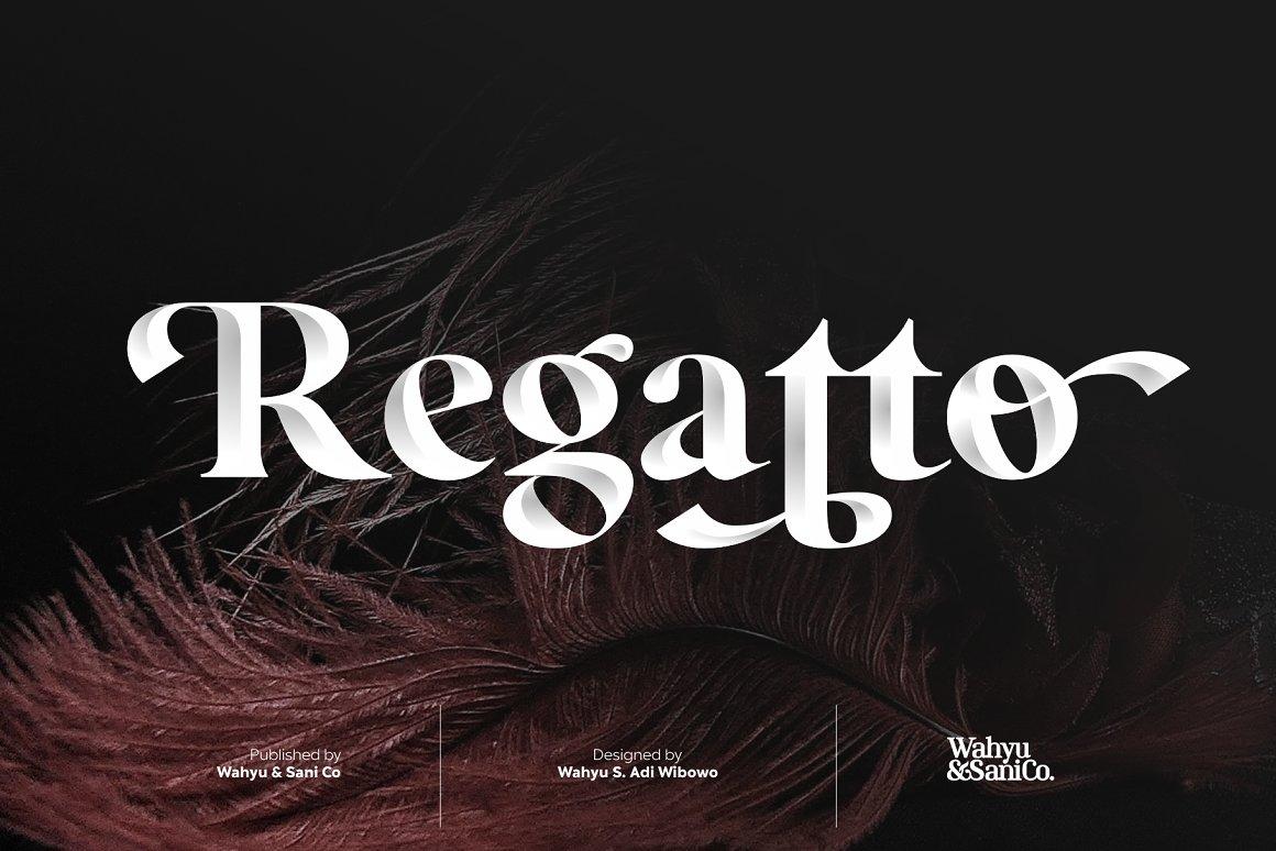 Regatto Venetian Style Typeface -1