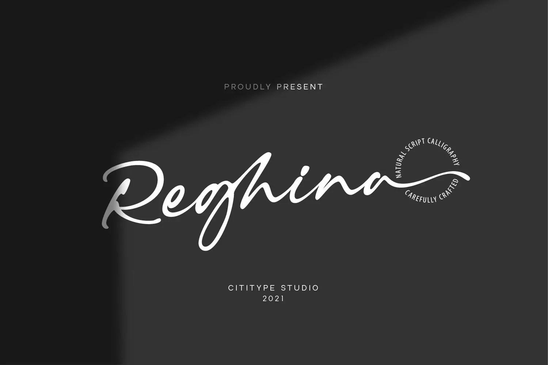 Reghina Script Calligraphy Font -1