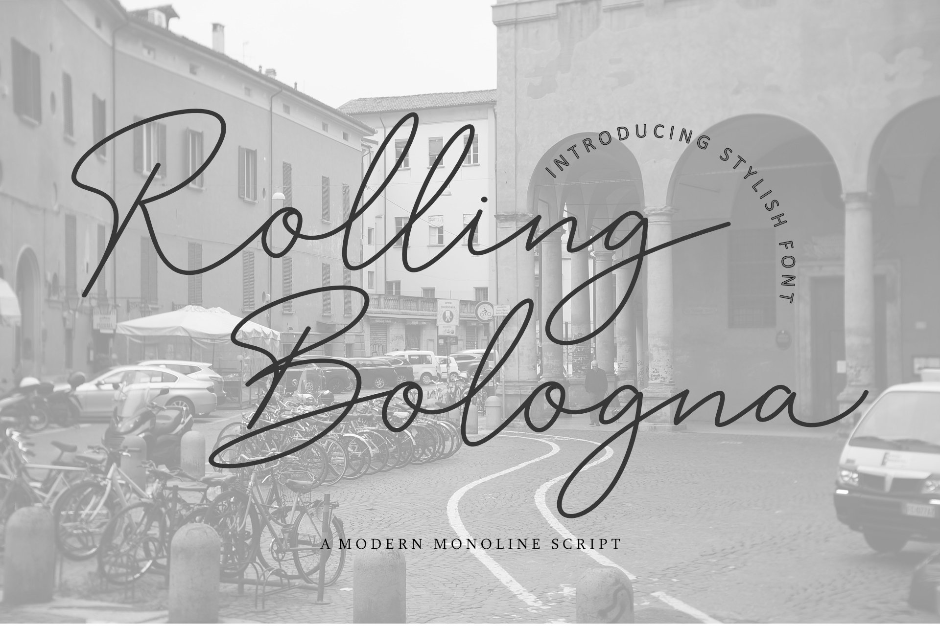 Rolling Bologna Modern Handwritten Font -1