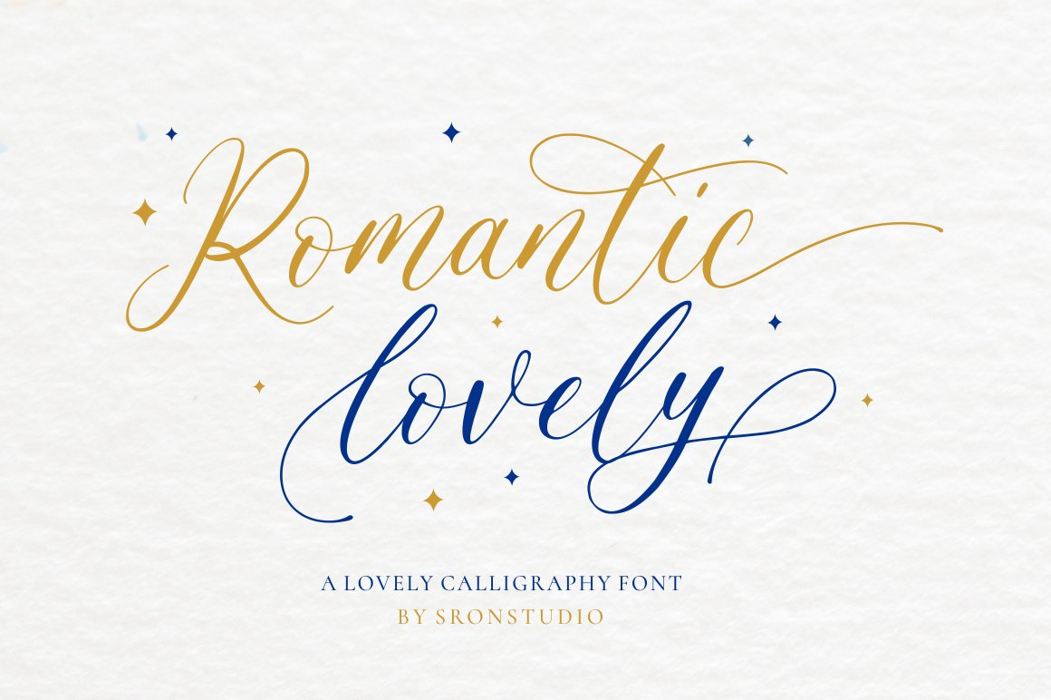 Romantic Lovely Calligraphy Font -1