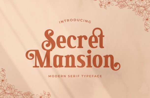 Secret Mansion Typeface