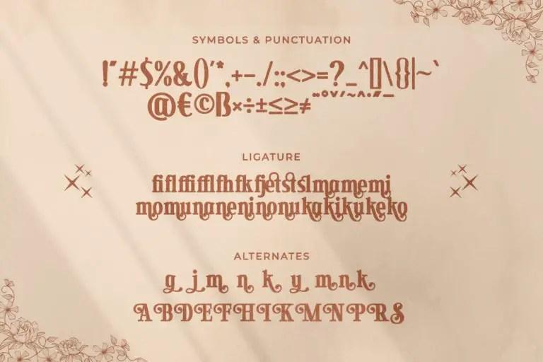 Secret Mansion Modern Serif Font -3