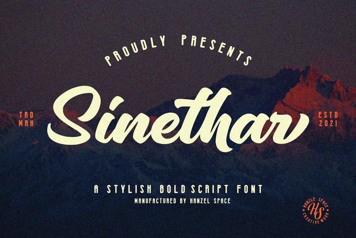 Sinethar Bold Script Font -1