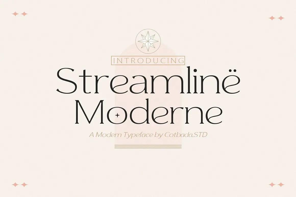 Streamline Moderne Serif Font -1