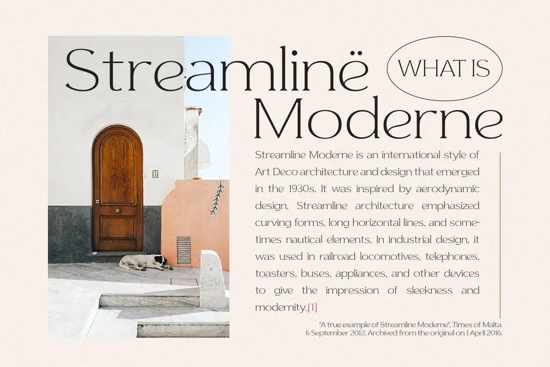 Streamline Moderne Serif Font -2