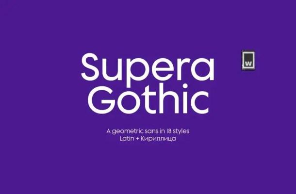 Supera Gothic Font Free