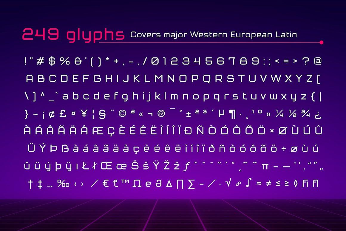 Tenika Squarish Techno Typeface -3