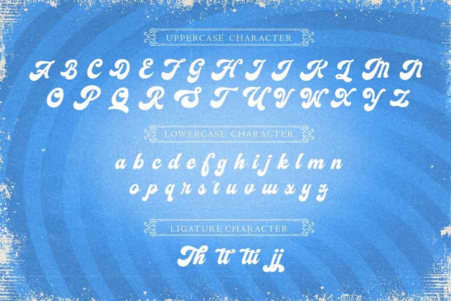 Vignettic Script Font -3