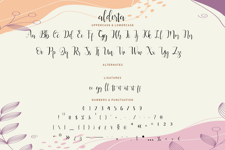 Alderta Calligraphy Font -3
