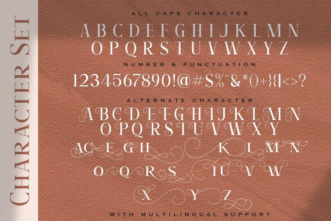 Angler Roman Serif Font -3